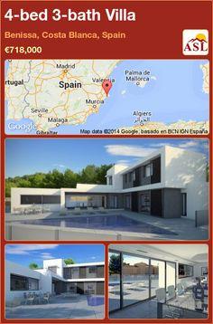4-bed 3-bath Villa in Benissa, Costa Blanca, Spain ►€718,000 #PropertyForSaleInSpain