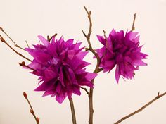 Frühlingsdeko: (Blitz-)Seidenpapierblumen oder Mini-Pompoms | SoLebIch.de #diy #diyideas #doityourself #diydecor #diydecoration