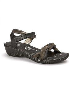 Look what I found on #zulily! Black Twisted Strap Sandal #zulilyfinds