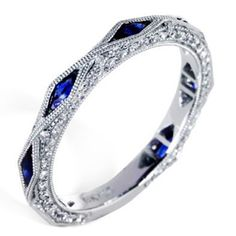 A perfect Mother's Day Ring by HadarDiamonds.com . Set with any birthstone or diamond and show her she's the best this Mother's Day 2015. Understated with a blend of artistry, sophistication, and old Hollywood, this ring as pictured flaunts .38 tcw diamonds and .55 tcw blue sapphires . Contact us today and receive by Mother's Day. Available in 14K, 18K, and Platinum. #mothersdaygifts #birthstonerings