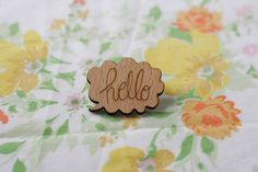 Hello Bubble Brooch from the Indie Darling shop