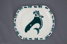Lambert pottery Killer whale plate #9