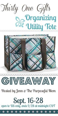 It's a Thirty-One Party {and Giveaway of an Organizing Utility Tote!!}