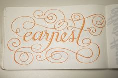 Sketchbook lettering by Frances Macleod.