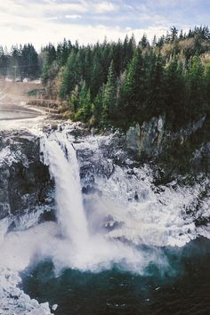 Snoqualmie Falls is a 268 ft (82 m) waterfall on the Snoqualmie River between Snoqualmie and Fall City, Washington, USA