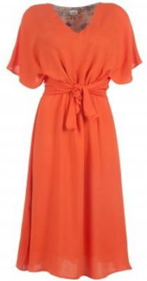 Orange knot dress available only at Pernia's Pop-Up Shop #3OtherThings #Fashion