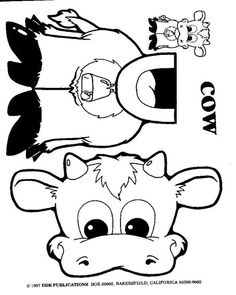 Best Photos of Paper Bag Animal Puppet Templates - Turtle Paper Bag Puppet Printables, Farm Animal Paper Bag Puppets and Farm Animal Paper Bag Puppet Templates Farm Animal Crafts, Farm Crafts, Farm Animals, Preschool Crafts, Preschool Activities, Preschool Christmas, Preschool Farm, Christmas Crafts, Cow Craft