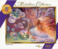 "Bubble Flower 1000 Piece Collector Puzzle  FANTASY COLLECTOR SERIES FOR 2010  1000 Pieces In Box: Size: 26.75"" x 19.25""  $19.95 ea.  I'd love to have a new one of these. I've actually done this but pieces were missing as from charity shop."