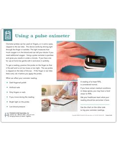 A guide to using a pulse oximeter with an interactive chart to track readings and triggers for follow up with a healthcare professional. Reading Charts, Bobby, Health Care, Track, Education, Runway, Truck, Running, Onderwijs