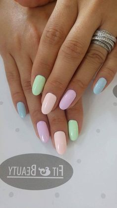 47 Most Eye-Catching and Gorgeous Light Colour Nails Design with Different Colors for Beginner 💋 - Diaror Diary 47 Most Eye-catching And Gorgeous Light Colour Nails Design With Different Colors For Beginner - Nail Idea Lιɠԋƚ Cσʅσυɾ Nαιʅʂ 💖 Cute Summer Nail Designs, Cute Summer Nails, Diy Nail Designs, Cute Nails, Cute Acrylic Nails, Pastel Nails, Shellac Nails, Diy Nails, Colorful Nail Art