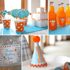 Super cute 1st birthday party theme for a boy.