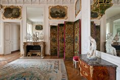 The Mesdames' apartments are symmetrical with the Dauphin's and the Dauphine's apartments. They were also turned into museum rooms by Louis-Philippe and were only recently restored to their original condition as princely apartments. The Mesdames of France, as the six daughters of Louis XV were known, lived here from 1752. Only two of them, Adélaïde and Victoire, remained until the Revolution, since neither princess married and both lived to an old age.