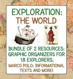This bundle consists of 2 items related to World Explorers and Exploration…