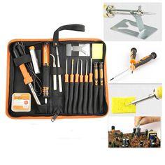 32.30$  Watch now - http://alinov.shopchina.info/1/go.php?t=32664954346 - 17 in 1 Jakemy JM-P03 multitool DIY Welding Soldering & tweezers & screwdriver set with 30W 220V electric Solder repair tool kit 32.30$ #buyininternet
