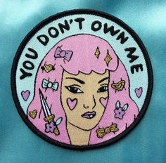 Lovestruck Prints Genevieve Darling You Don't Own Me Patch. This feminist patch is empowering! Add it to your denim jacket and make sure your glare is strong at all times. Available at www.victoireboutique.com