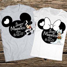 Disney honeymoon shirts Anniversary disney shirts Married