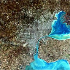 Detroit, Southeast Michigan, and Windsor Ontario. Oooh, from NASA!