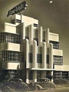 "artdecodaze: "" The Lane-Wells Company headquarters in Los Angeles, CA, circa 1939 Image Source: Elly's Notebook """