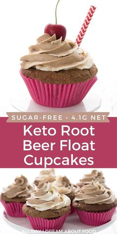 Nothing says summer like a root beer float! But how about some keto root beer float cupcakes? They're fun to make and they taste just like summer in a healthy low carb cupcake.
