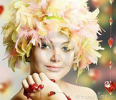 Funny Girl in Wig by Subbotina, via Dreamstime