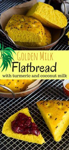 Vegan Golden Milk Flatbread with Coconut Milk & Turmeric | Easy Vegan Bread Recipe | Bread Recipes with turmeric and coconut milk | Turkish Flatbread Recipes | #breadrecipes #veganrecipes #cinnamonandcoriander #turmeric #coconutoil #turmericlatte #goldenmilk #veganfood #dairyfree #sugarfree #ayurveda #flatbread #breadbakers