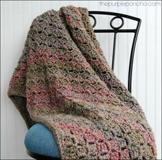 Crochet Corner-to-Corner Throw with Rope Edging – Free Patterns   The Purple Poncho