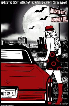 Original concert lot poster for PHISH at the Boardwalk Hall in Atlantic City, NJ 2010. 11x17 card stock. Limited edition of only 100!! Signed and numbered by artist Maria DiChiappari. made with love!!