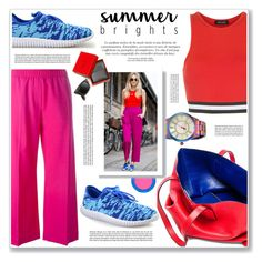 """""""summer bright"""" by nanawidia ❤ liked on Polyvore featuring New Look, MAC Cosmetics, Betsey Johnson, Marc Jacobs, MSGM, Chinese Laundry, Ray-Ban, contestentry, polyvoreeditorial and polyvorecontest"""