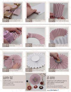 Tutorial: Rosette Party Decorations #DIY #Printables #DecorationIdeas