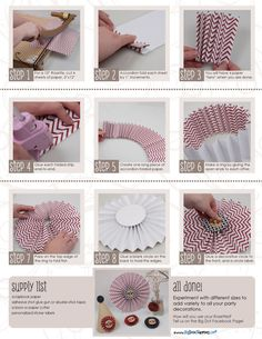 Tutorial: Rosette Party Decorations #DIY #Printables #DecorationIdeas