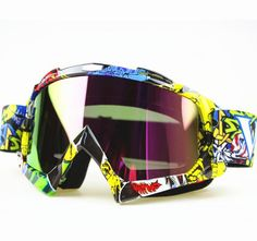 Hot Winter Downhill Dirt Bike Glasses Ski Snow Snowboard Snowmobile Goggles Motorcycle Motocross Off-Road Eyewear