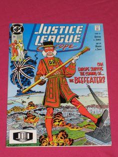 Justice League Europe #20 DC Comics 1990 - Flash, Power Girl, Elongated Man (B)   eBay