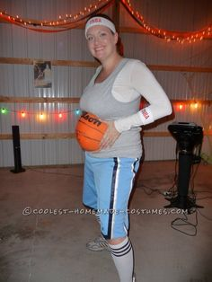 Original Pregnant Basketball Player Costume... This website is the Pinterest of costumes