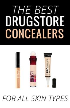 The Best Drugstore Concealers - for all skin types! #makeup #beauty #concealer #drugstoremakeup #drugstorebeauty #makeuplover #makeupjunkie