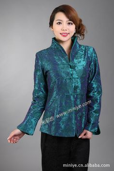 Jackets & Coats Basic Jackets Collection Here Hottest Chinese Style Lady Silk Satin Overcoat Vintage Turn-down Collar Jacket Single Button Coat Tang Suit Size S To 4xl Wide Varieties