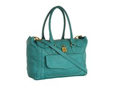 Jessica Simpson Madison Solid Satchel Turquoise