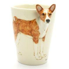 Basenji Dog Mug 00002 Ceramic 3D Mug Original Handmade Coffee Cup Dog Lover Collectible Gifts