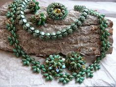 Silkes Perlendesign: Set in Picasso-grün