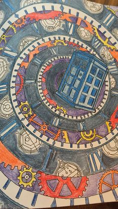 Tardis From Doctor Who Colouring Book