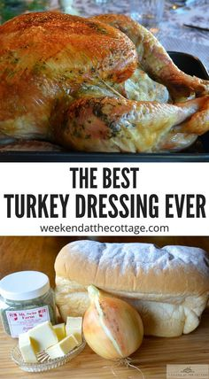 I especially love this family recipe for traditional Newfoundland dressing. The secret to this recipe is dried savoury. The flavour goes so well with turkey and gravy or enjoy it on top of fish, chips with gravy as the locals do. Thanksgiving Recipes, Holiday Recipes, Happy Thanksgiving, Thanksgiving Sides, Roast Recipes, Cooking Recipes, Chicken Recipes, Turkey Stuffing Recipes, Turkey Dressing