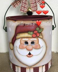 Christmas Makes, Christmas Signs, Christmas Decorations To Make, Simple Christmas, Christmas Art, Santa Paintings, Christmas Paintings, Painted Wine Bottles, Painted Jars