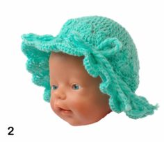 Gehaakte mutsen voor o.a. Baby Born poppen Baby Born, Crochet Hats, Beanie, Beanies, Beret