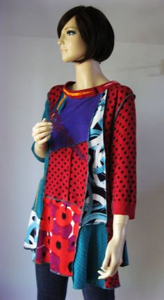 XL to 1X  Fun Funky Colorful Tunic von maisestudio auf Etsy