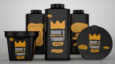 Packaging of the World: Creative Package Design Archive and Gallery: DUUUD´S Yoghurt (Concept) Yogurt Packaging, Dairy Packaging, Cheese Packaging, Paper Packaging, Beverage Packaging, Blueberry Fruit, Banana Fruit, Strawberry Drinks, Yogurt Ice Cream
