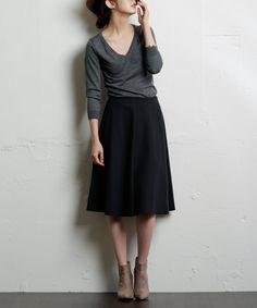 ポンチ切り替スカート #シータ・ミュー