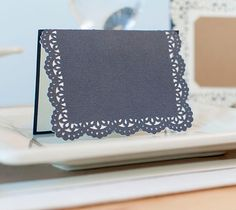 Anna Griffin Splendid Soirees Image Set -- Lace Folded Card. Make It Now in Cricut Design Space