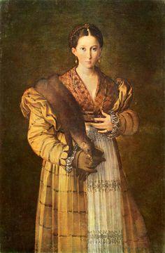 oldrags: Ritratto di giovane donna del Parmigianino, 1535-1537 l'Italia, Galleria Nazionale di Capodimonte