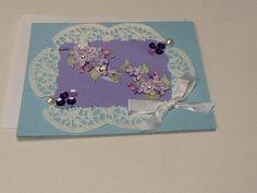 Purple flowers in pearls on Etsy, $2.50