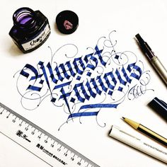 """""""Almost Famous ✍ #typewa #calligraphy #wanghuy #typography #typovn #typoholic #typostrate #typographie #typographyinspired #typographyserved #typeface…"""""""