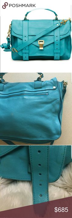 AUTHENTIC Proenza Schouler PS1 Medium Gorgeous Lagoon color Authentic Proenza PS1 medium bag.  I have added an optional chain so you use as a crossbody as well. Proenza Schouler Bags